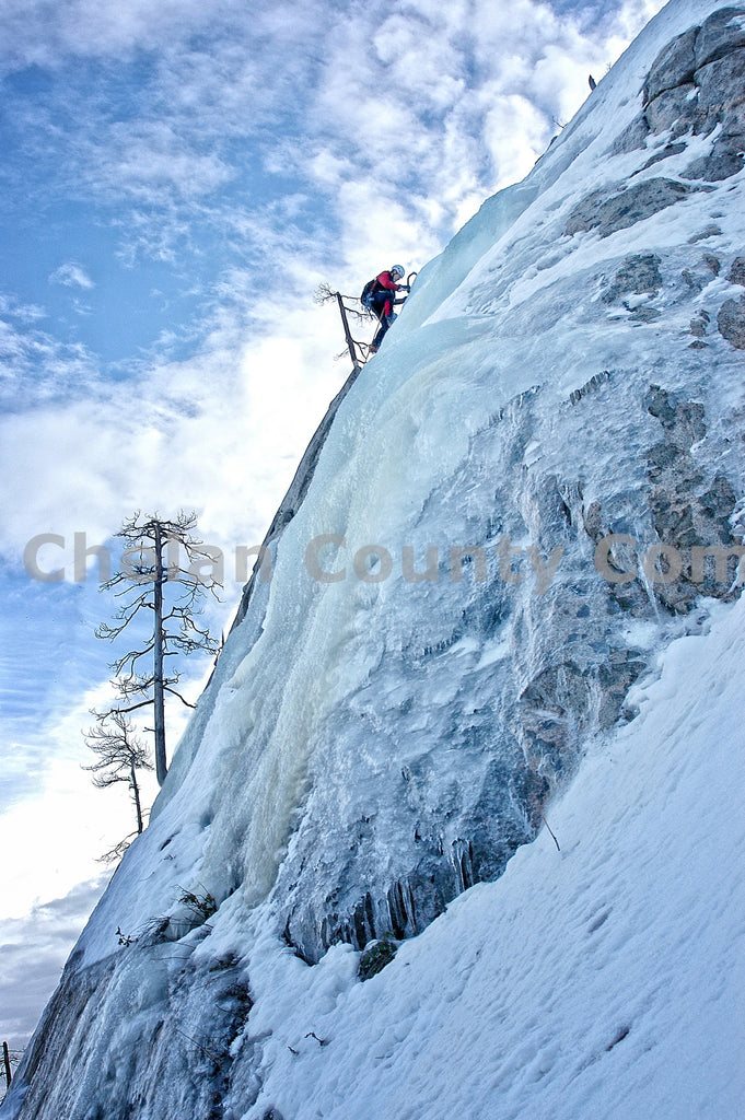 Ice Climbing the Pearly Gates , JPG Image Download - Heidi Swoboda, Chelan County Commons