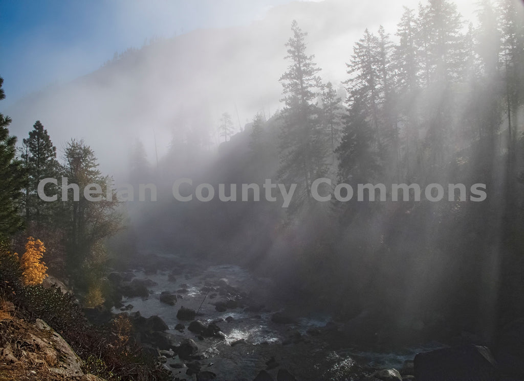 Icicle Creek Morning Fog , JPG Image Download - Stephen Hufman, Chelan County Commons