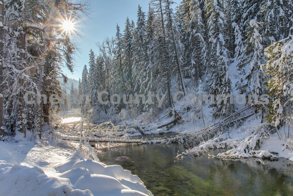 Alpine Winter Stream , JPG Image Download - Travis Knoop, Chelan County Commons