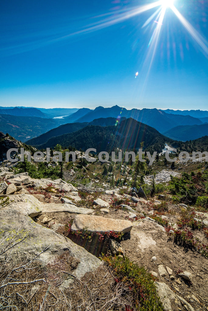 Labyrinth Mountain Sunshine , JPG Image Download - Brian Mitchell, Chelan County Commons