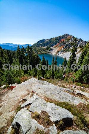 Lake Minotaur from above , JPG Image Download - Brian Mitchell, Chelan County Commons