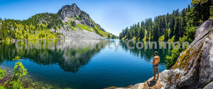 Fishing Lake Valhalla , JPG Image Download - Brian Mitchell, Chelan County Commons