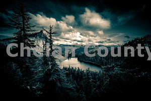 Lake Valhalla Black & White , JPG Image Download - Brian Mitchell, Chelan County Commons