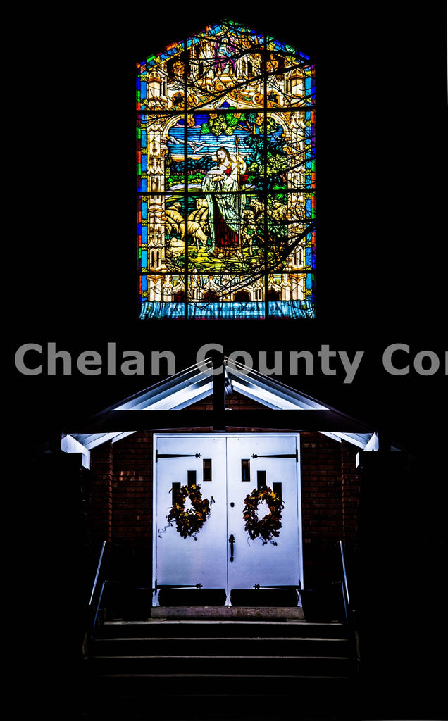 Cashmere Church Stained Glass , JPG Image Download - Brian Mitchell, Chelan County Commons