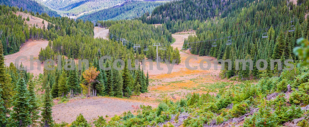 Mission Ridge Chair 2 in Summer , JPG Image Download - Brian Mitchell, Chelan County Commons