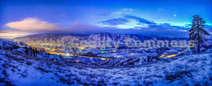 Winter Wenatchee Panorama , JPG Image Download - Brian Mitchell, Chelan County Commons