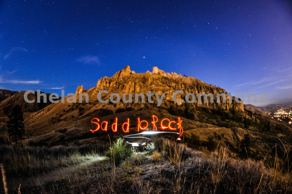 Saddle Rock Labeled , JPG Image Download - Brian Mitchell, Chelan County Commons