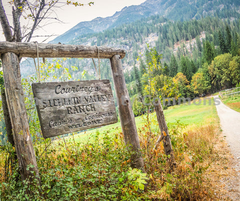 Courtney's Stehekin Valley Ranch Sign