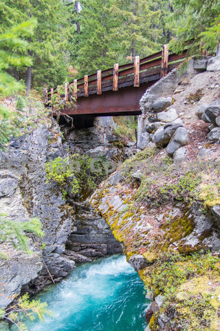 Stehekin Bridge Over River
