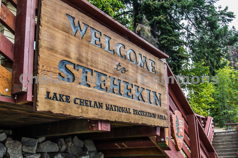 Welcome to Stehekin Sign