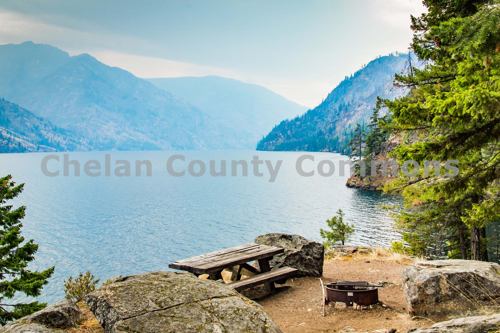 Stehekin Campsite on Lake Chelan , JPG Image Download - Josh Cadd, Chelan County Commons