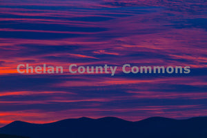 Purple Pink Sunrise Mountains , JPG Image Download - Travis Knoop, Chelan County Commons