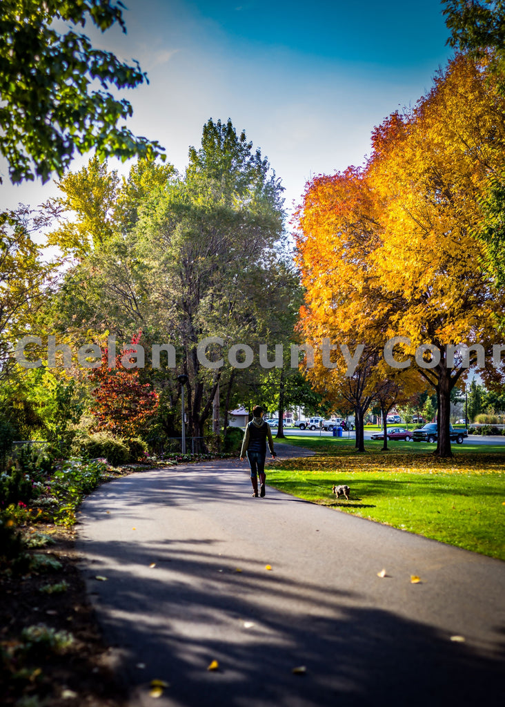Wenatchee Waterfront Fall Walker , JPG Image Download - Josh Cadd, Chelan County Commons