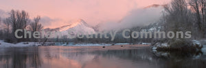 Wedge Mountain Winter Sunrise , JPG Image Download - Stephen Hufman, Chelan County Commons