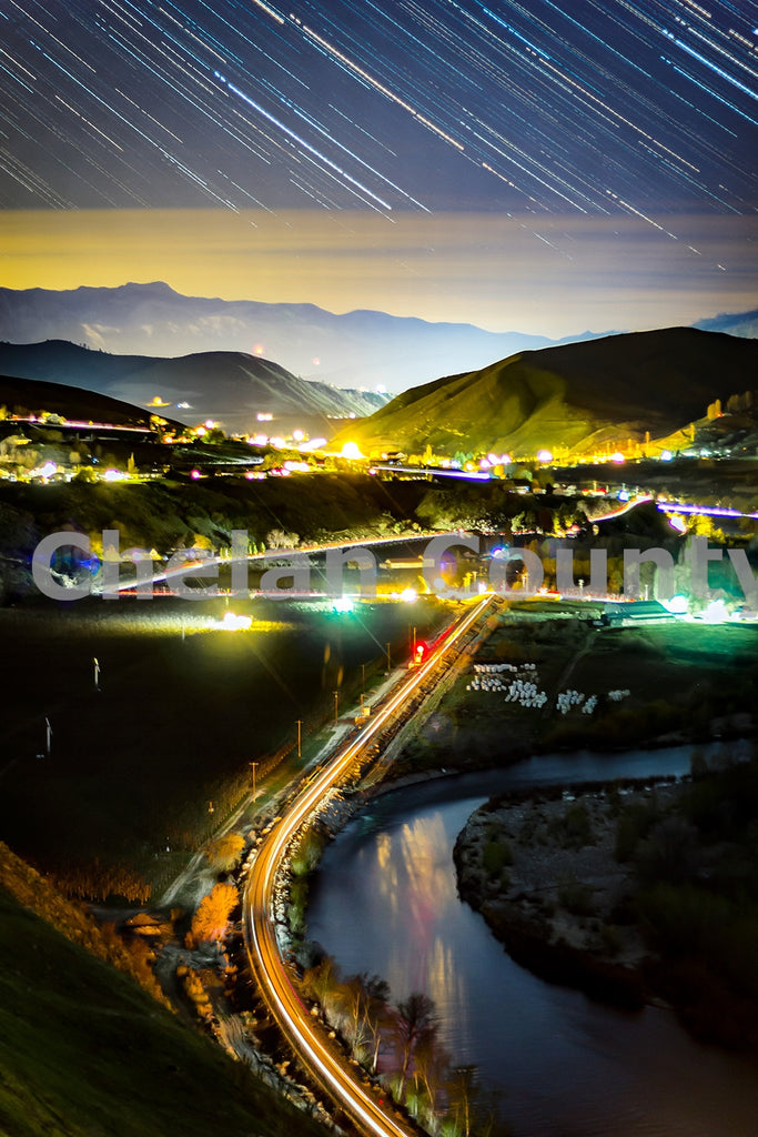 Wenatchee River Star Trails , JPG Image Download - Josh Cadd, Chelan County Commons