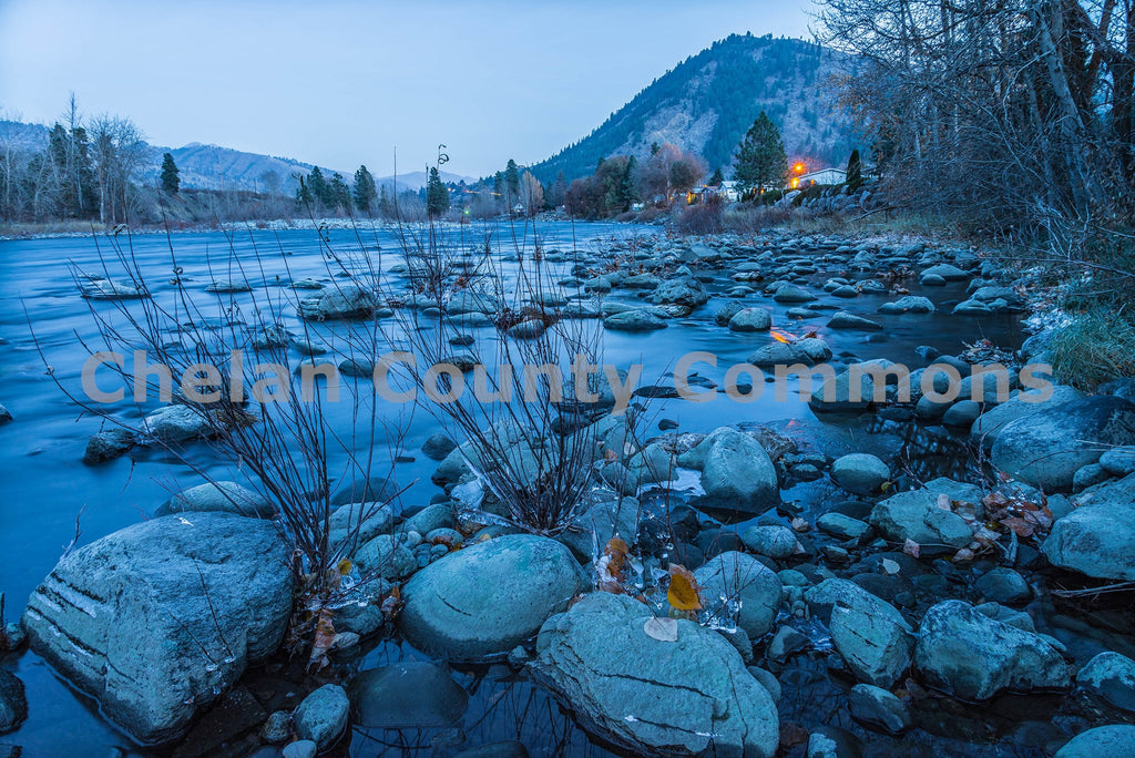 Wenatchee River Dusk , JPG Image Download - Brian Mitchell, Chelan County Commons