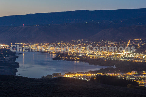 Cityscape Wenatchee at Night