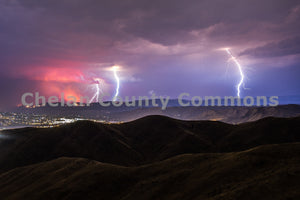 Fire & Lightning , JPG Image Download - Josh Cadd, Chelan County Commons