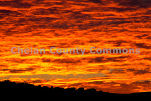 Orange Sunrise Silhouettes  , JPG Image Download - Josh Cadd, Chelan County Commons