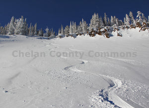Ski Powder Tracks , JPG Image Download - Jared Eygabroad, Chelan County Commons