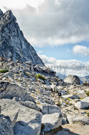 Vertical Asgard Pass Hiking Trail , JPG Image Download - Heidi Swoboda, Chelan County Commons