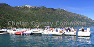Boats In a Row On Lake Chelan , JPG Image Download - Travis Knoop, Chelan County Commons