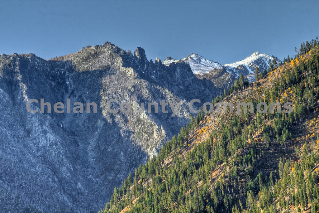 Burned Fall Mountainside , JPG Image Download - Travis Knoop, Chelan County Commons