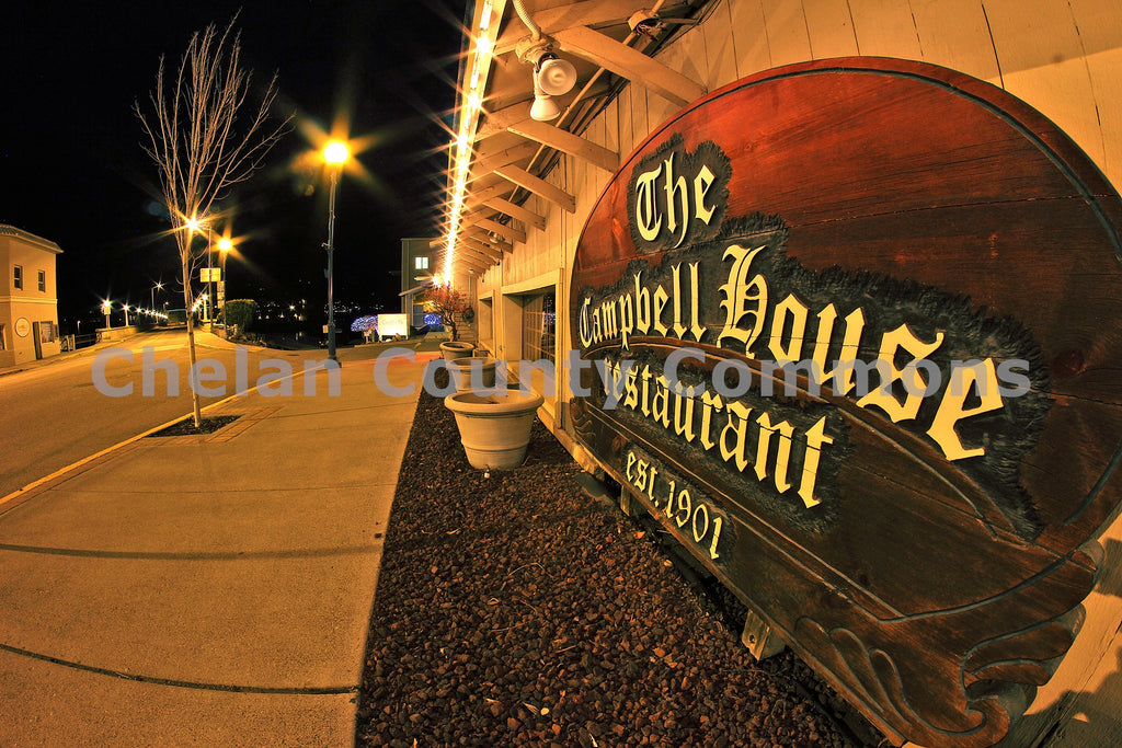 Campbell's Restaurant Sign , JPG Image Download - Jared Eygabroad, Chelan County Commons