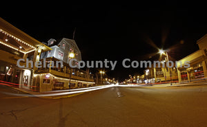 Chelan Main Street at Night , JPG Image Download - Jared Eygabroad, Chelan County Commons