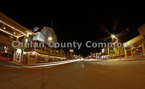 Chelan Main Street at Night