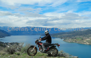 Dirt Bike Scenic View Lake Chelan , JPG Image Download - Jared Eygabroad, Chelan County Commons