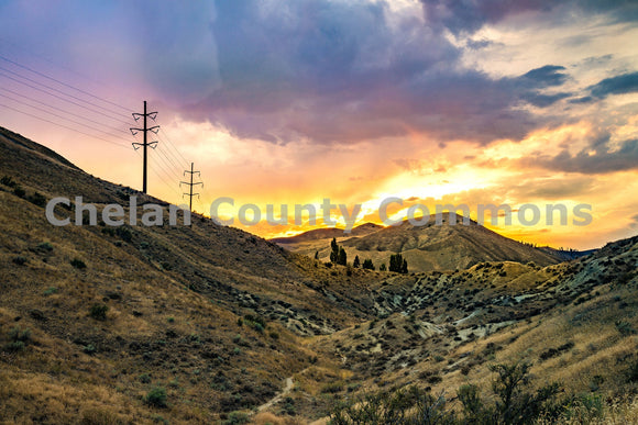 Fiery Sage Hills , JPG Image Download - Brian Mitchell, Chelan County Commons