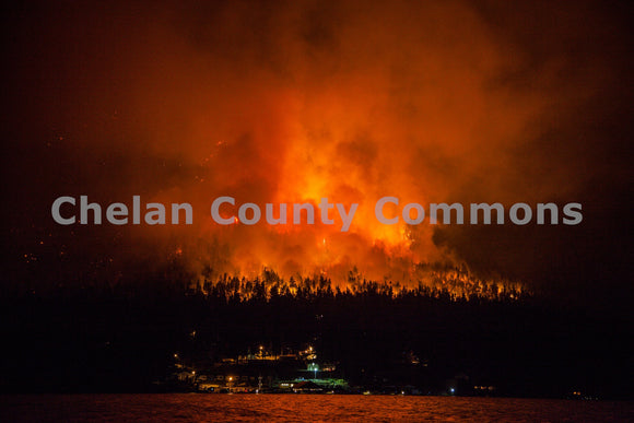 Fire Plume First Creek , JPG Image Download - Travis Knoop, Chelan County Commons