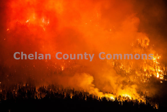 First Creek Fire Close , JPG Image Download - Travis Knoop, Chelan County Commons