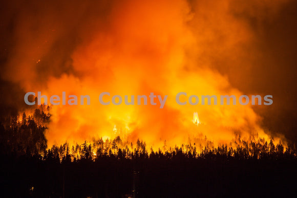 First Creek Fire Plume , JPG Image Download - Travis Knoop, Chelan County Commons