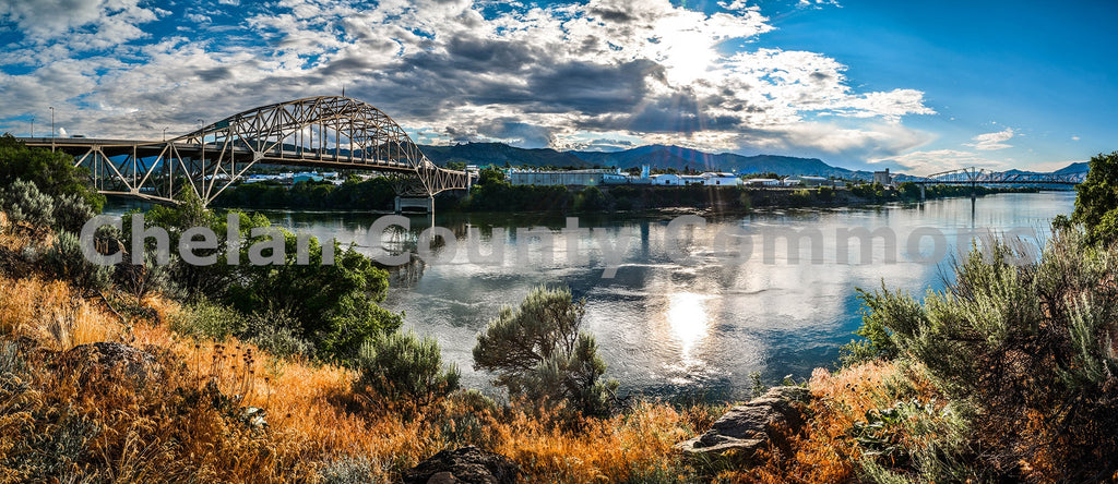 George Sellar Bridge - Wide , JPG Image Download - Brian Mitchell, Chelan County Commons