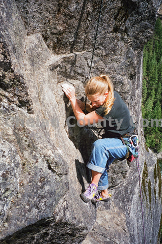 Woman Sport Climbing in Leavenworth
