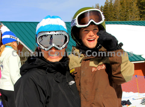 Happy Ski Mom & Son