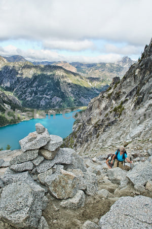 Group Scrambles Asgard Pass , JPG Image Download - Heidi Swoboda, Chelan County Commons