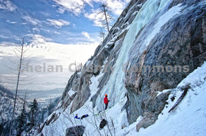 Ice Climbing at The Pearly Gates , JPG Image Download - Heidi Swoboda, Chelan County Commons