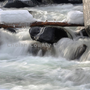 Frozen Icicle Creek Rapids , JPG Image Download - Heidi Swoboda, Chelan County Commons
