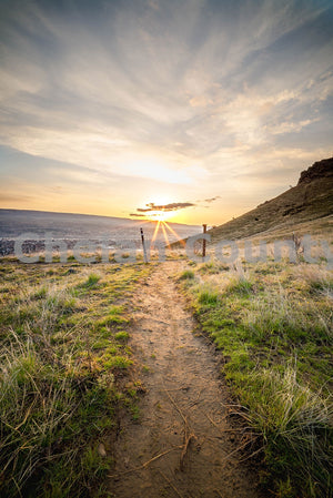 Jacobson Preserve Sunrise Trail , JPG Image Download - Brian Mitchell, Chelan County Commons