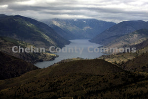 Lake Chelan Cloudy Aerial , JPG Image Download - Richard Uhlhorn, Chelan County Commons