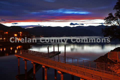 Lake Chelan Dock at Dusk