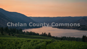 Sunset Across Lake Chelan , JPG Image Download - Travis Knoop, Chelan County Commons