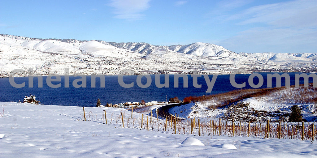 Lake Chelan Snowcovered , JPG Image Download - Richard Uhlhorn, Chelan County Commons