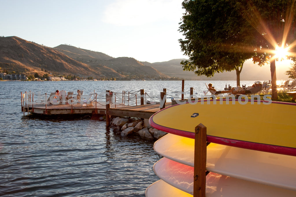Lake Chelan Sunset SUP , JPG Image Download - Travis Knoop, Chelan County Commons