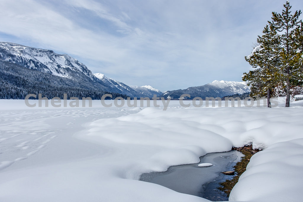 Frozen Lake Wenatchee , JPG Image Download - Travis Knoop, Chelan County Commons