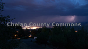 Night Lights Wenatchee Lightning , JPG Image Download - Travis Knoop, Chelan County Commons