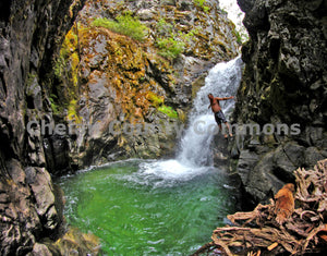 Waterfall Swimming Hole Jump , JPG Image Download - Jared Eygabroad, Chelan County Commons